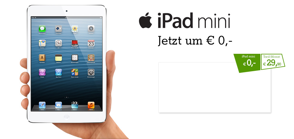 iPad mini ab  0,-
